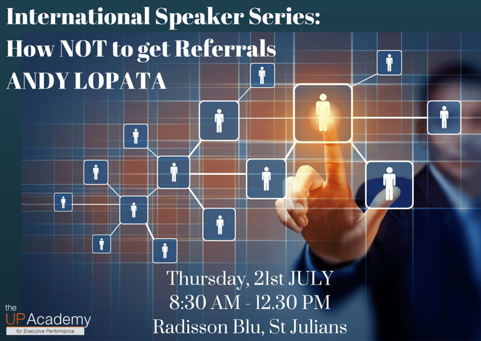 International Speaker Event: Andy Lopata on How NOT to get Referrals