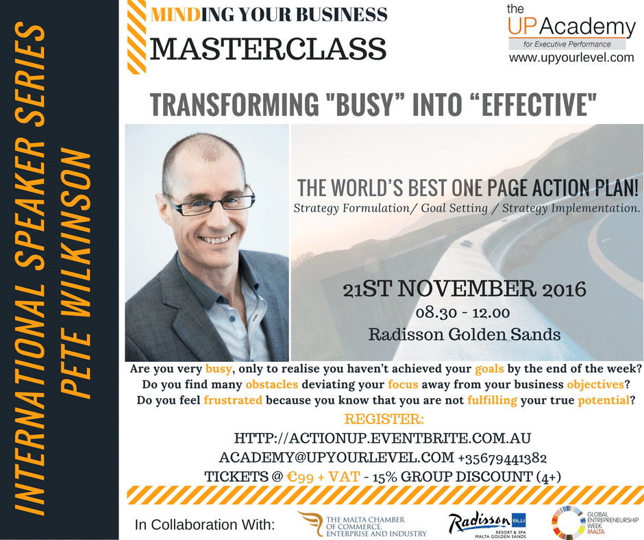 """Transforming """"BUSY"""" into """"EFFECTIVE – 21/11/16"""