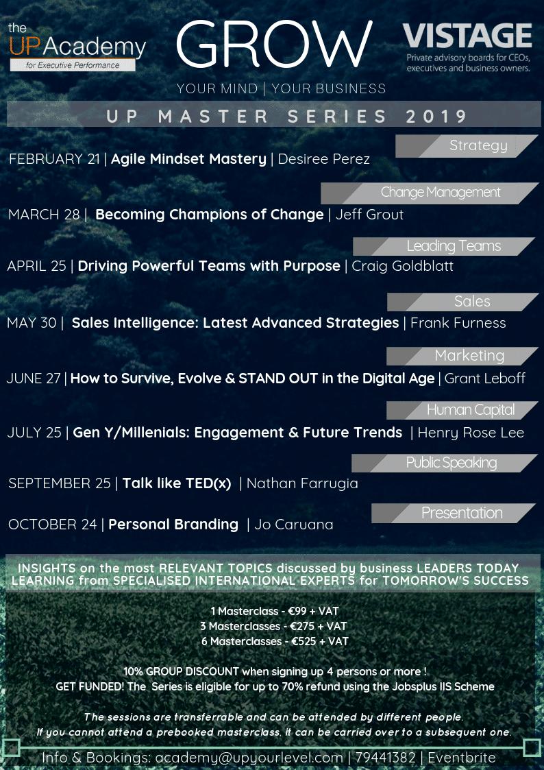2019 MASTER SERIES – Updated Schedule